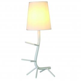 Lampe Centipede blanche Mantra E27 H64, ideale en chevet, au salon, repose livres