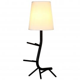 Lampe Centipede noire Mantra E27 H64, ideale en chevet, au salon, repose livres