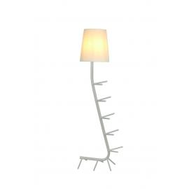 Lampadaire Centipede blanc Mantra E27 H64, idéal en bout de canapé, coin lecture