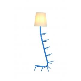 Lampadaire Centipede bleu Mantra E27 H64, idéal en bout de canapé, coin lecture