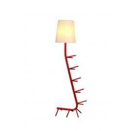 Lampadaire Centipede rouge Mantra E27 H64, idéal en bout de canapé, coin lecture