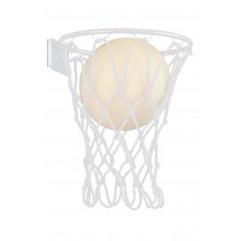 Applique Basketball blanc Mantra E27 H37 L30, une deco originale qui ravira les sportifs.