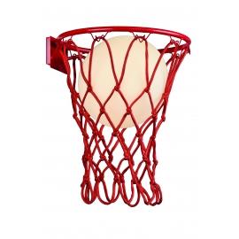 Applique Basketball noire Mantra E27 H37 L30, une deco originale qui ravira les sportifs.