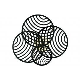 Applique ou Plafonnier Collage led noire Mantra 60w 3000K 4500 lumens 69,5 cms x 63,5 cms, résolument design et décoratif