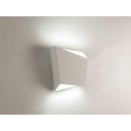 Applique Asimetric Mantra métal blanc 1xGX53 dimensions 19,7 x 8 X 21,5, d'un style épuré et élégant elle habillera tous vos mur