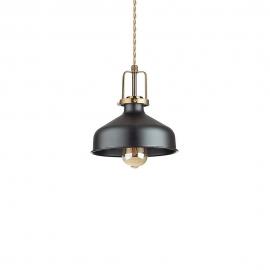 Suspension Eris Ideal Lux métal noir, fil à l'ancienne torsadée doré D21 idéale pour une cuisine vintage