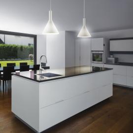 Suspension Cocktail Ideal Lux verre soufflé blanc fil textile E14, sublimera vos cuisines, plans de travail, tables D35