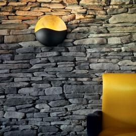 Applique Sunrise Ideal Lux en métal noir mat intérieur feuille d'or 4xG9, décorative, magnifiera vos murs pour un éclairage en