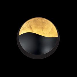 Applique Sunrise Ideal Lux en métal noir mat intérieur feuille d'or 3xG9, décorative, magnifiera vos murs pour un éclairage en
