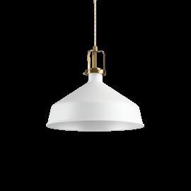 Suspension Eris Ideal Lux métal blanc, fil à l'ancienne torsadée doré D21 idéale pour une cuisine vintage