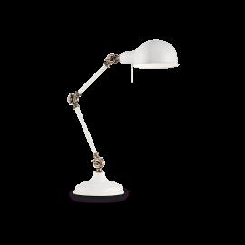 Lampe Truman Ideal Lux orientable métal blanc mat intérieur émaillé blanc 1xE27, sur un bureau, en chevet elle trouvera facileme