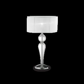 Lampe Duchesse Ideal Lux en verre soufflé, travaillé à la main abat jour en tissu d'organdi plissé 1xE27, ravira les intérieurs
