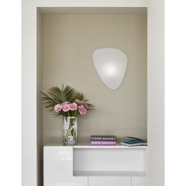 Applique Screen Market set, mobile, en métal peint, écran en papier Murano blanc L33 H42 P14,5