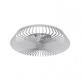Plafonnier ventilateur led gris Himalaya Mantra