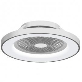 Plafonnier ventilateur led gris Tibet Mantra Diam 65 70w 3900 lumens de 2700k a 5000k livre avec télécommande, compatible googl