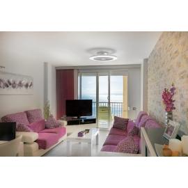 Plafonnier ventilateur led Alisio Mantra gris Diam 63 H16 70w 4900 lumens de 2700k a 5000k livre avec télécommande