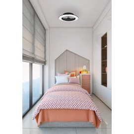 Plafonnier ventilateur led Alisio Mantra noir