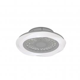 Plafonnier ventilateur led Boreal Mantra argent Diam 62 H20 70W 4200 lumens de 2700k a 5000k livre avec télécommande