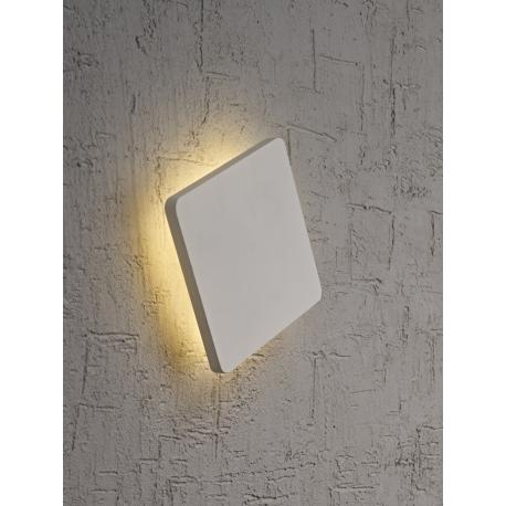 applique led carrée bora bora mantra blanc mat led epistar