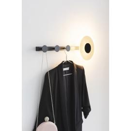 Applique porte manteaux led Venus 3 patères 6w490 lumens 3000K idéal pour les entrées