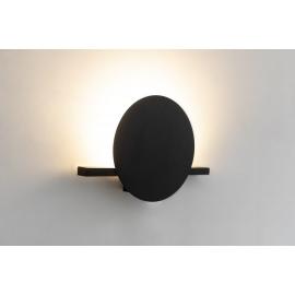 Applique led Eris Mantra design Hugo Tejada aluminium noir 8w 640 lumens L30
