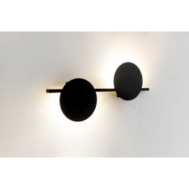Applique led Eris Mantra design Hugo Tejada aluminium noir 16w 1280 lumens L60