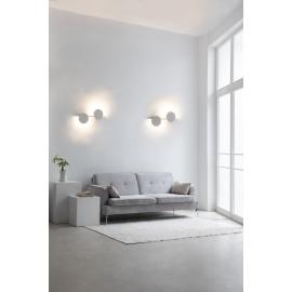 Applique led Eris Mantra design Hugo Tejada aluminium blanc 16w 1280 lumens L60