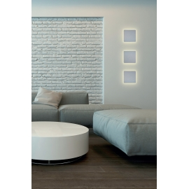 applique led carrée bora bora mantra blanc mat led epistar