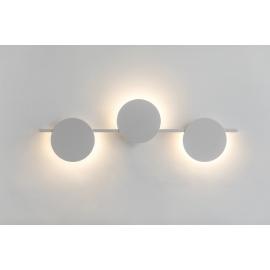 Applique led Eris Mantra design Hugo Tejada aluminium blanc 24w 1920 lumens L60