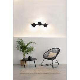 Applique led Eris Mantra design Hugo Tejada aluminium noir 24w 1920 lumens L60