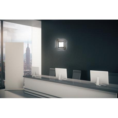 Applique, plafonnier led Mikinos Mantra métal et acrylique, 18W 1300 lumens 3000k 36x36 cms