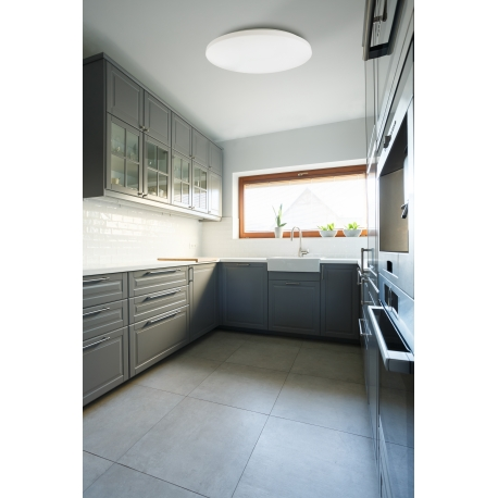 Plafonnier led Zero Mantra acrylique blanc 36w 2350 lumens 3000K D38 cms