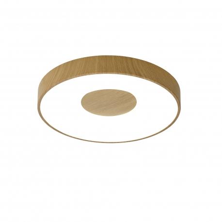 Plafonnier led variable Coin Mantra métal imitation bois et acrylique, 80W 3900 lumens 2700K-5000K livré avec télécommande D50