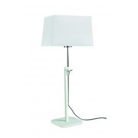 lampe habana blanc, chrome réglable avec abat jour