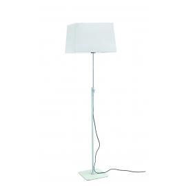 lampadaire habana blanc chrome réglable avec abat jour