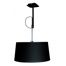 lampe habana noir, chrome réglable avec abat jour