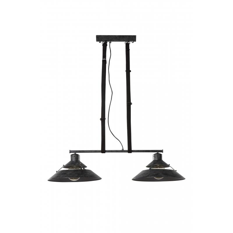 lustre billard mantra m tal noir lani re cuir 2x23w e27. Black Bedroom Furniture Sets. Home Design Ideas
