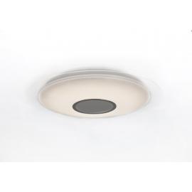 Plafonnier Light Speaker bluetooth Mantra 36w led 300k à 600k avec haut parleur 10w en métacrylate blanc avec télécommande
