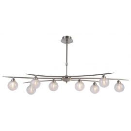 suspension Snow Light and Dzign métal nickel satiné 8x40w G9
