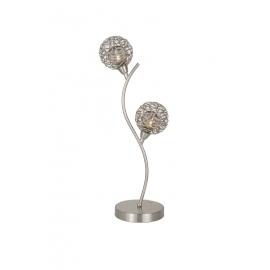 Lampe Earth Light and Dzign métal nickel satiné 2x40w G9