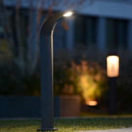 Luminaire ext rieur lampadaire metal verre jardin design for Luminaire exterieur retro